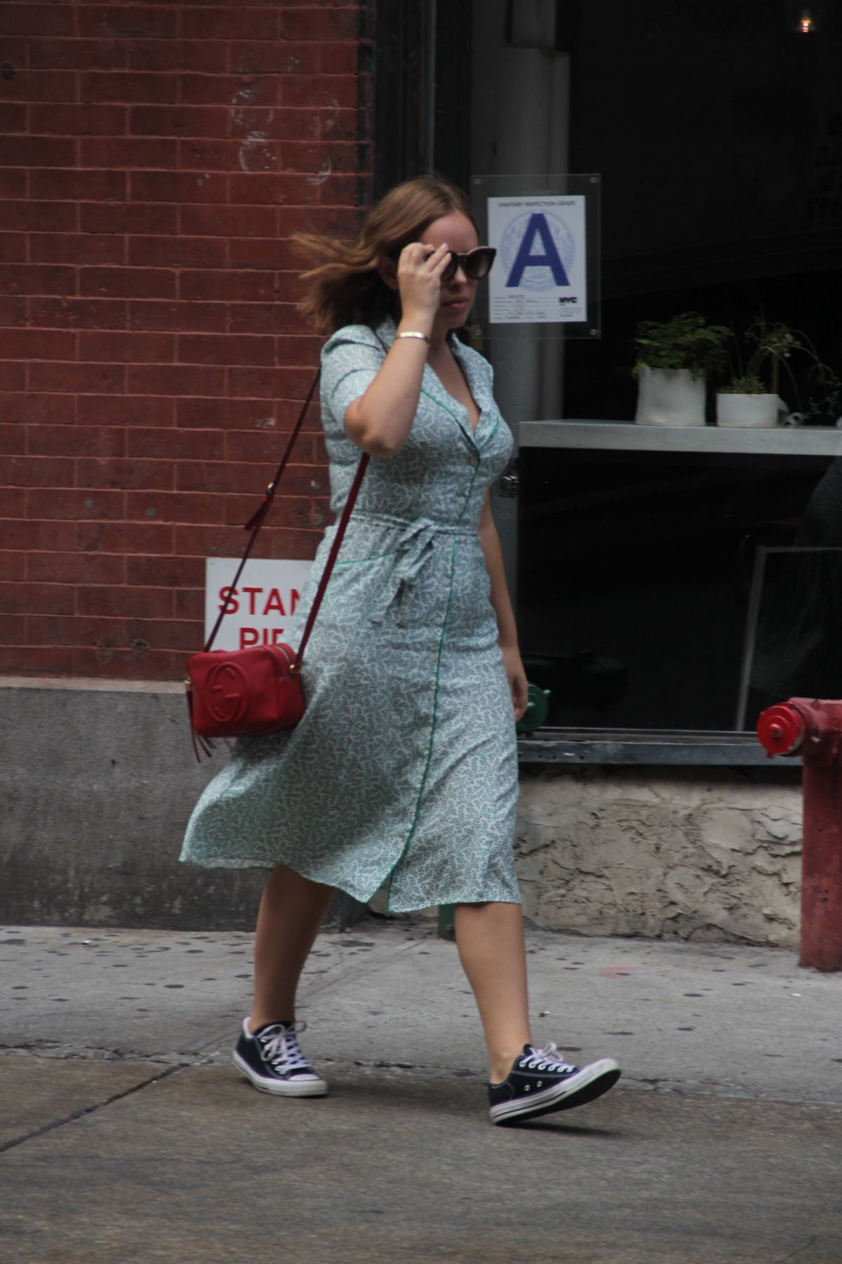 tanya burr spotted leaving lunch at abc kitchen in new york city