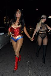 Abigail Ratchford Sports a Wonder Woman costume for Avenue