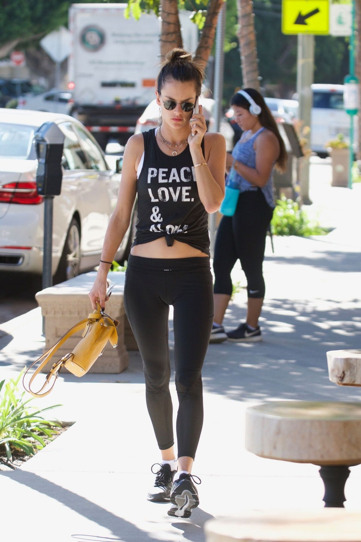 Alessandra Ambrosio At a gym in Brentwood