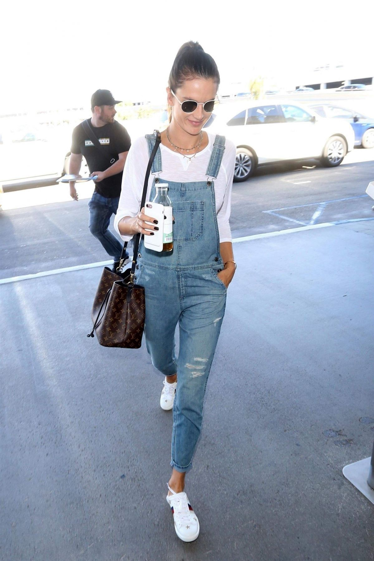 Alessandra Ambrosio At LAX International Airport, Los Angeles