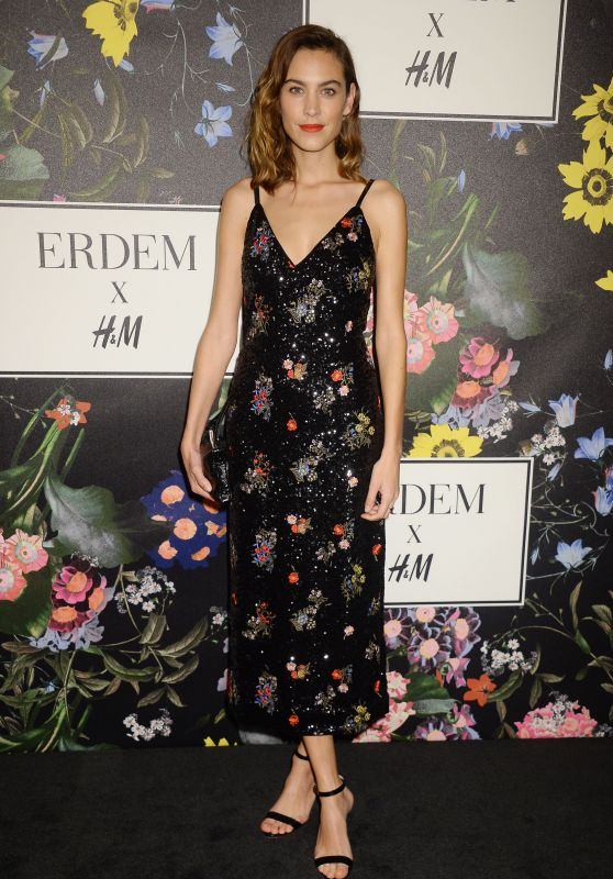 Alexa Chung At Erdem x H&M Launch event in Los Angeles