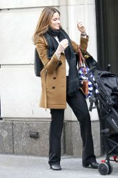 "Amanda Peet Filming a scene on her new TV series ""The Romanoffs"" on Fifth Avenue in New York"