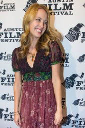 "Amy Acker At ""Amanda and Jack Go Glamping"" Premiere during Austin Film Festival"