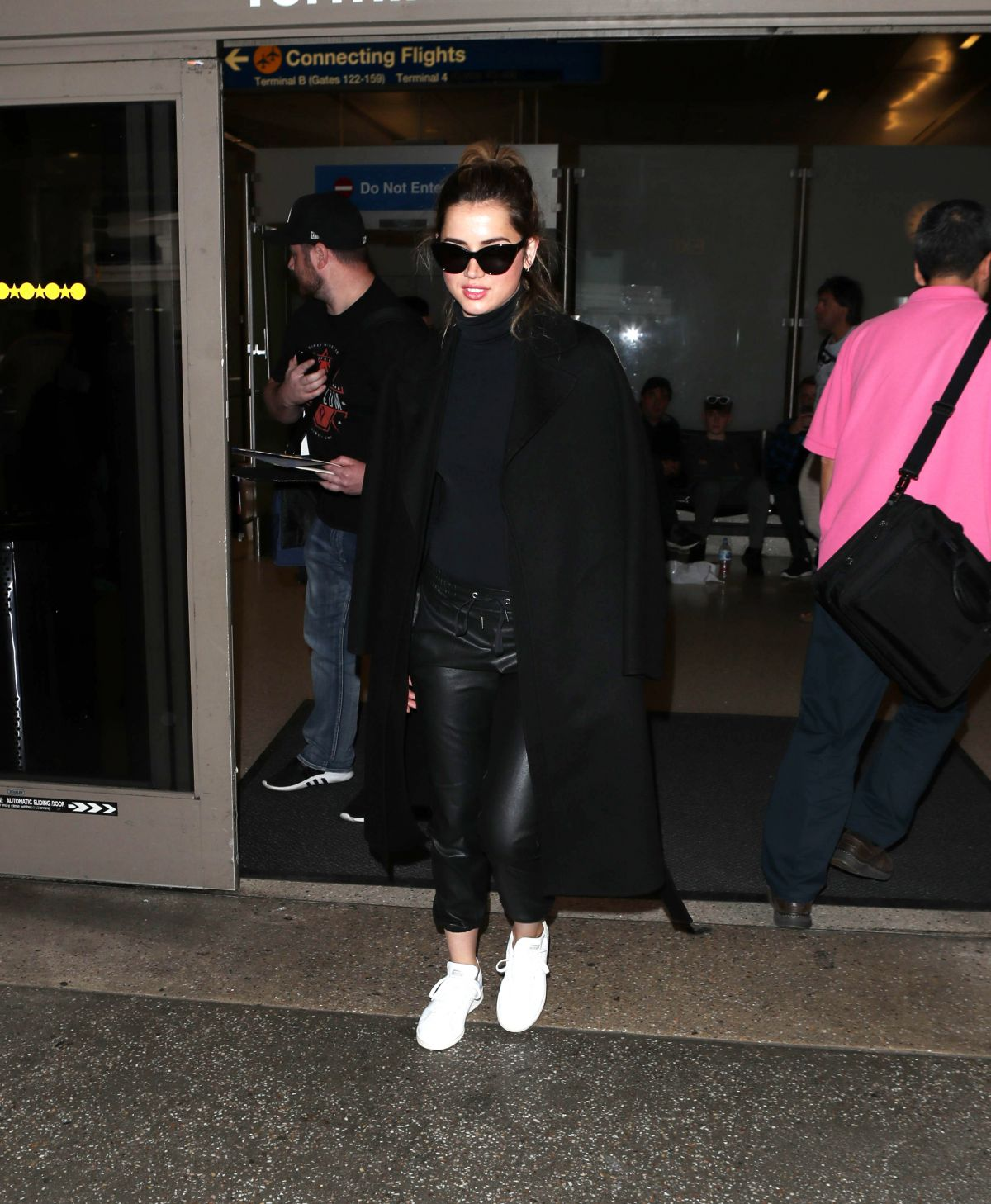 Ana De Armas Spotted at the LAX International Airport in Los Angeles