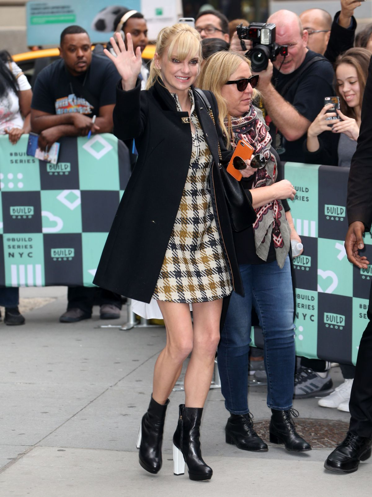 Anna Faris Outside the Build Studios in New York City