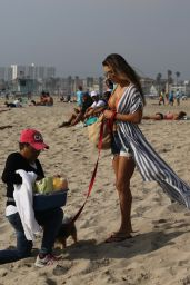 Arianny Celeste Is spotted at the beach in Venice