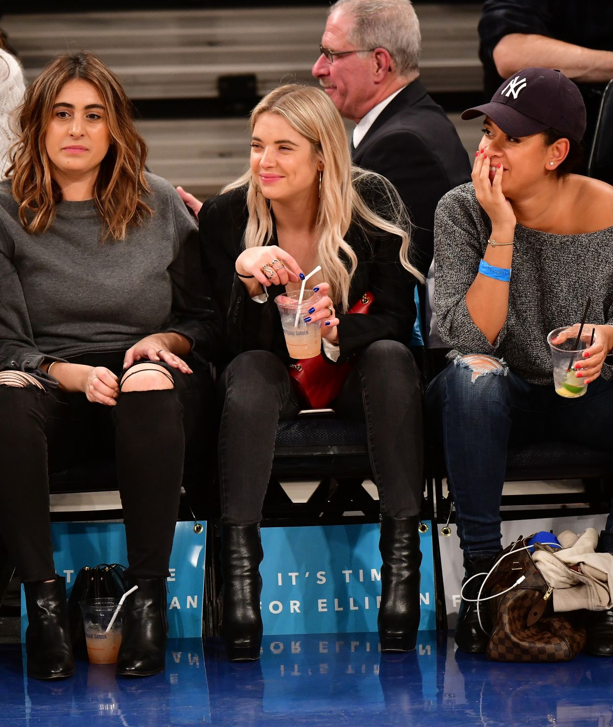 Ashley Benson At the Nets vs Knicks game in NYC