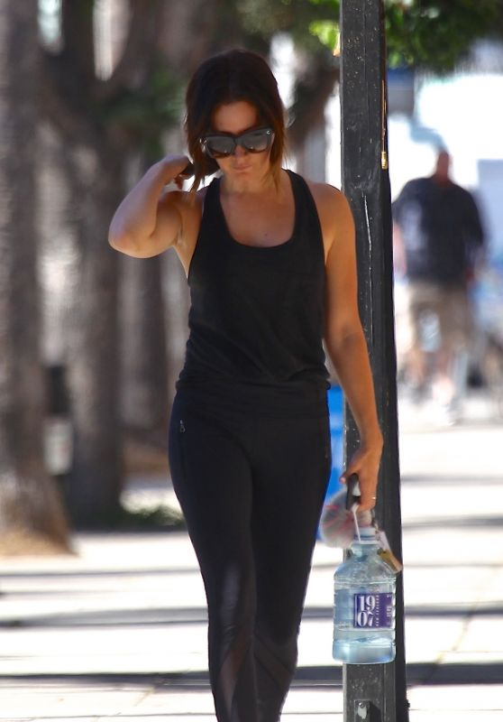 Ashley Tisdale At a gym in Studio City