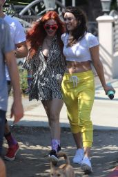 Bella Thorne & Kyra Santoro Out for a hike in Los Angeles
