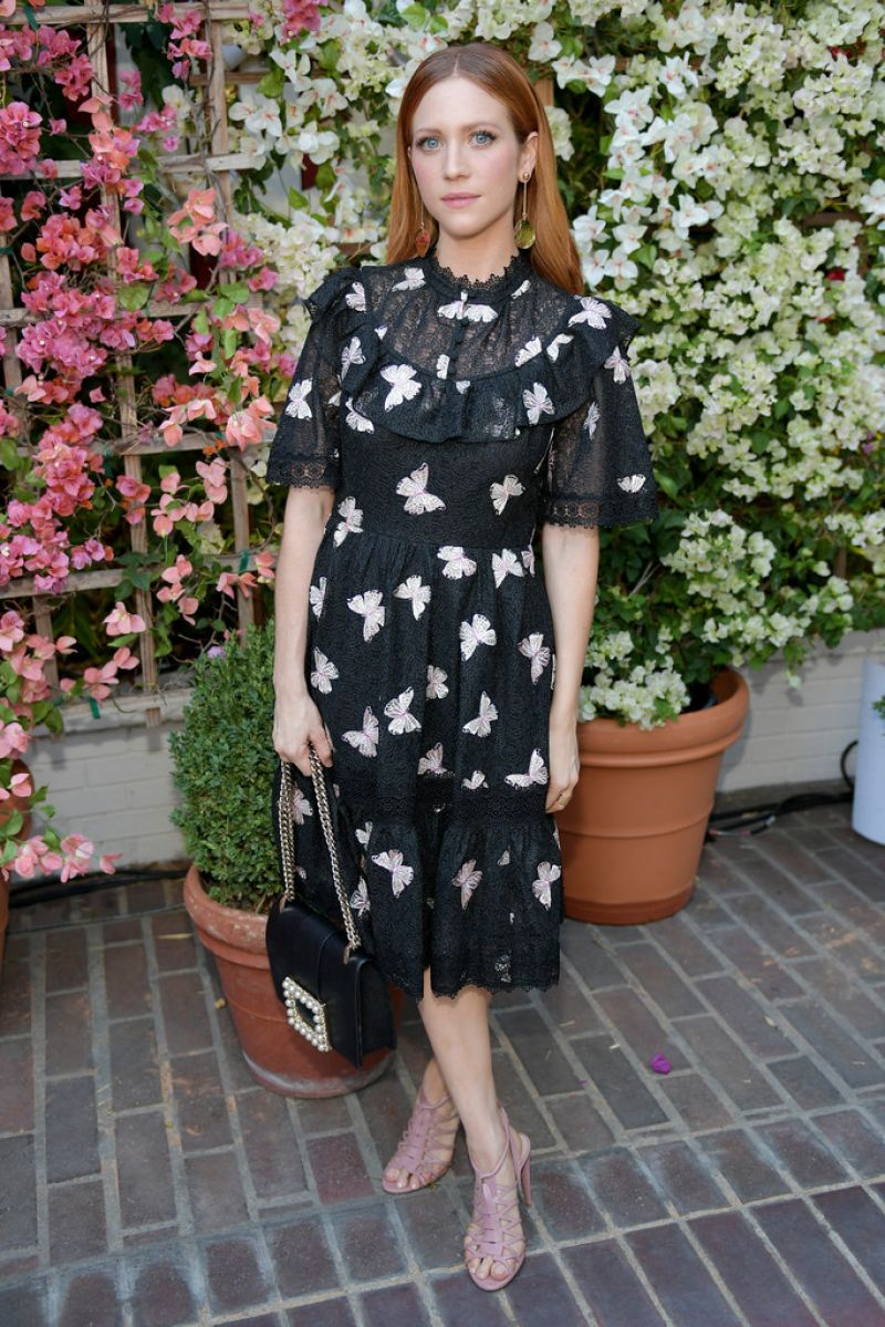 Brittany Snow At CFDA/Vogue Fashion Fund Show and Tea in Los Angeles