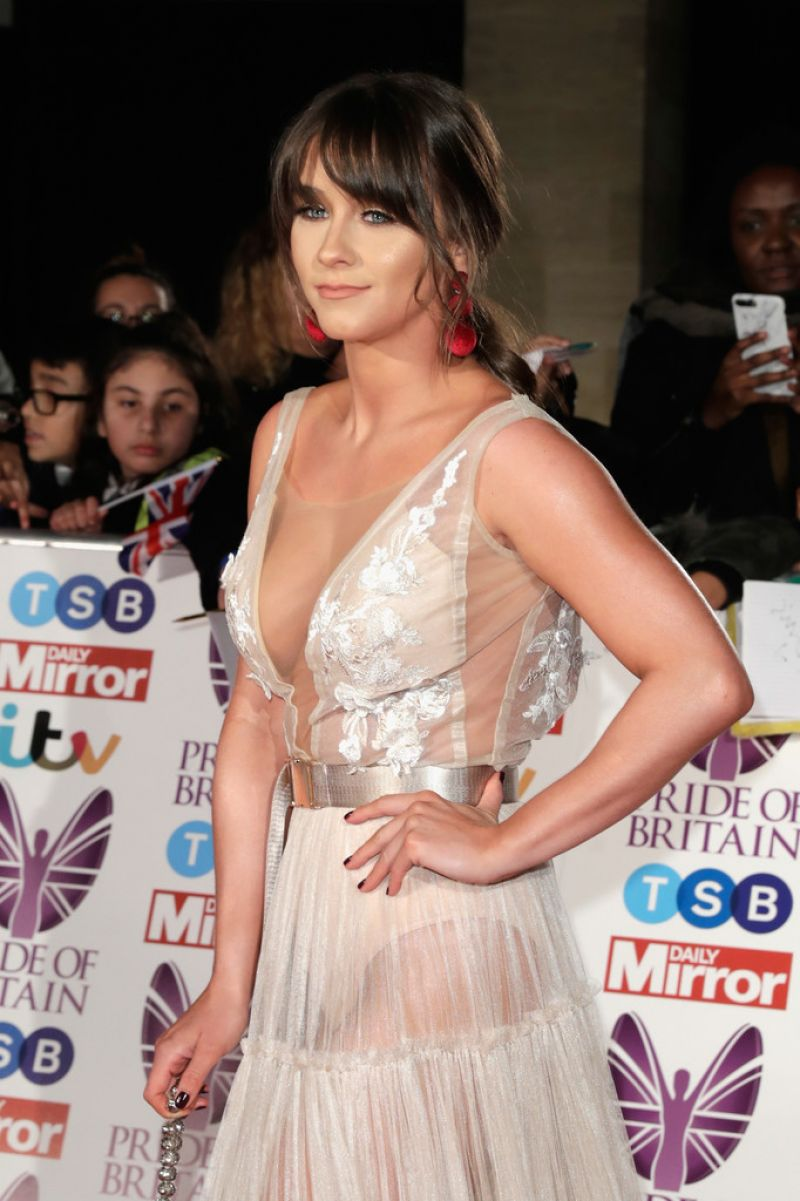 Brooke Vincent At The Pride of Britain Awards 2017 in London