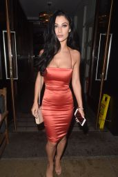 Cally Jane Beech Enjoying a birthday night out at The Living Room in Manchester