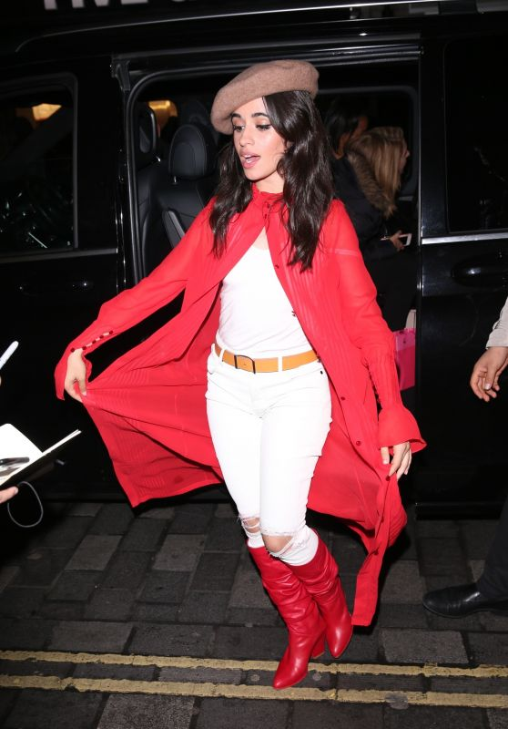 Camila Cabello Arrives At A Business Meeting In Soho London