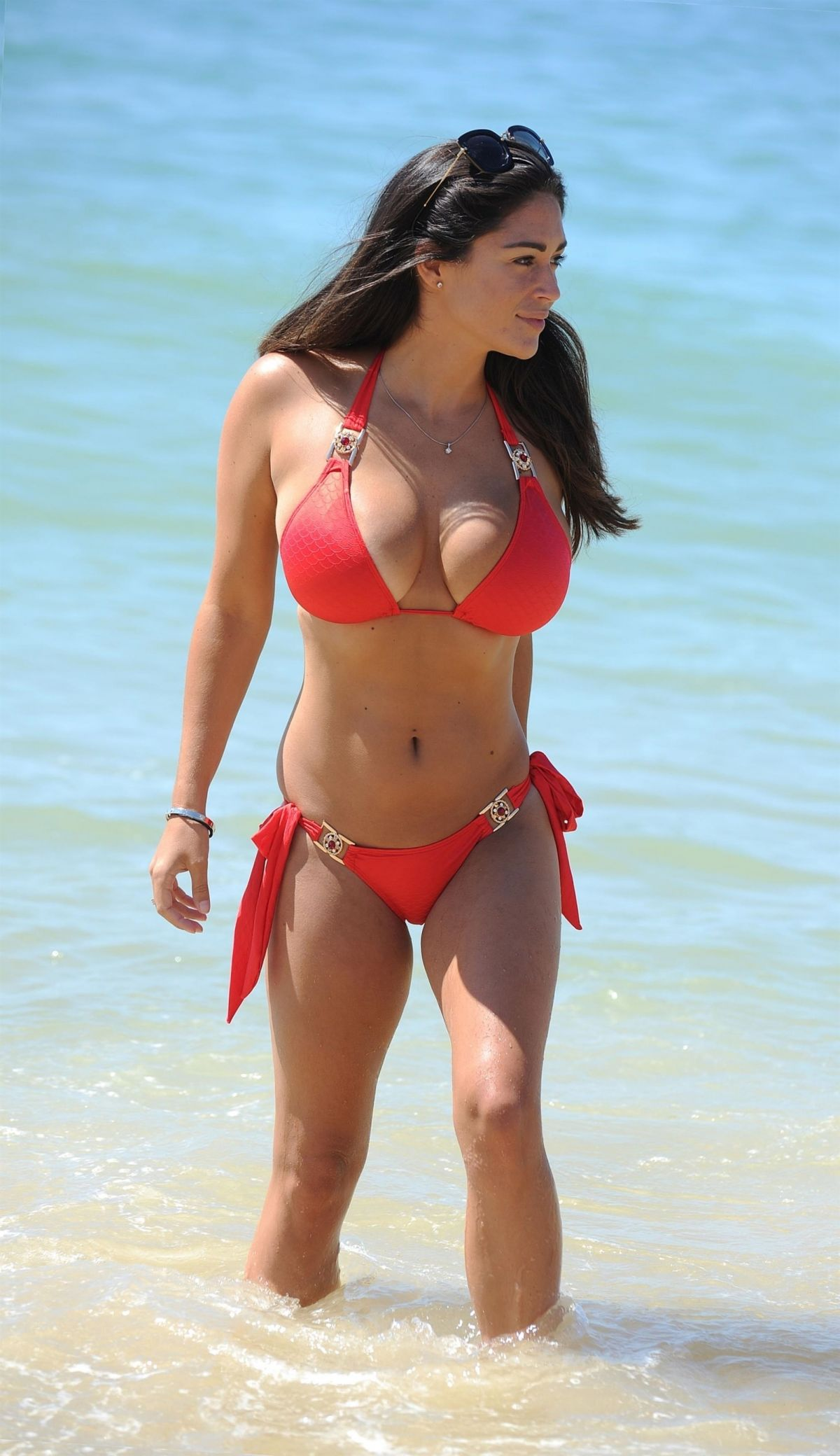 Casey Batchelor in Blue Bikini in Cyprus Pic 12 of 35