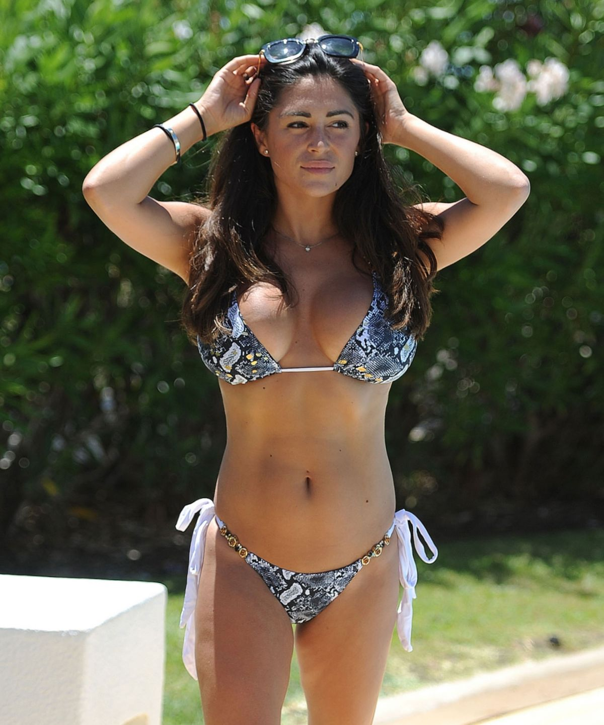 Casey Batchelor in Blue Bikini in Cyprus Pic 4 of 35