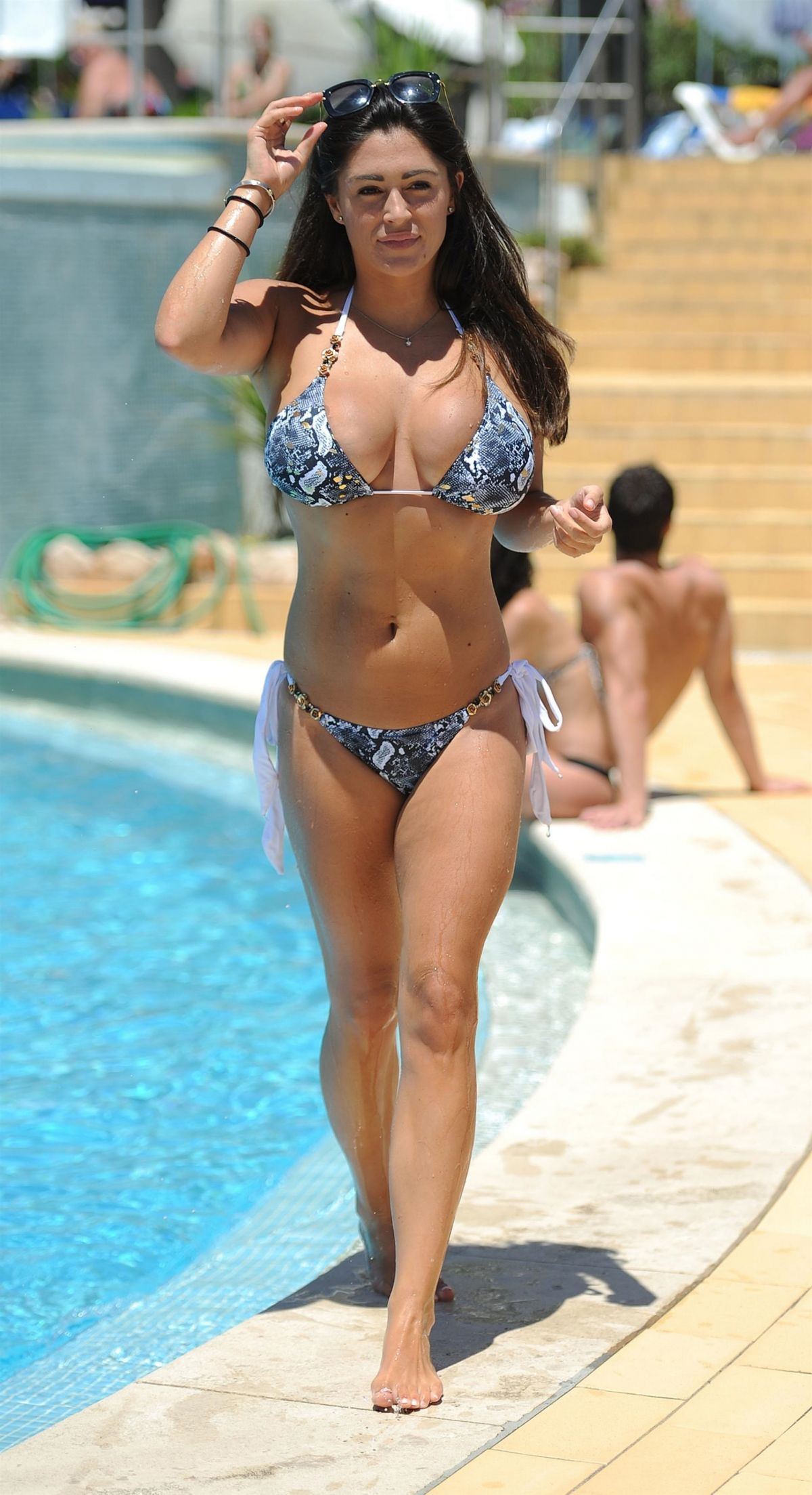 Casey Batchelor in Bikini on the pool in Cyprus Pic 8 of 35