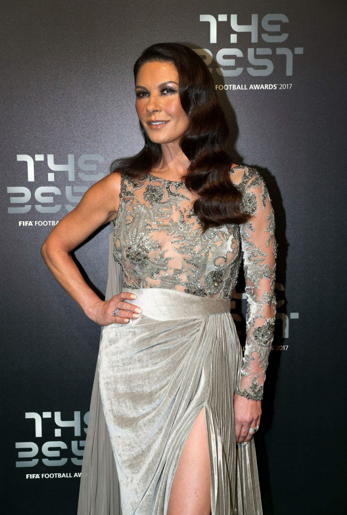 Catherine Zeta-Jones At The Best FIFA Football Awards in London