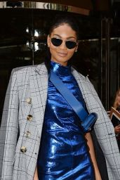 Chanel Iman Heading out from her hotel in Paris