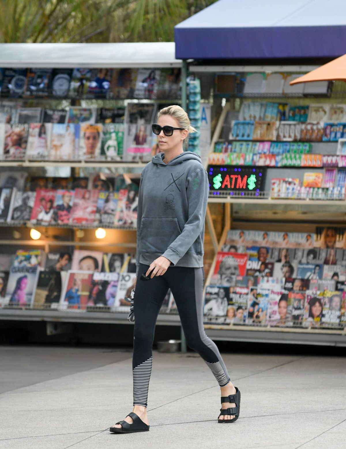 Charlize Theron Heads to Soul Cycle for a morning workout in LA