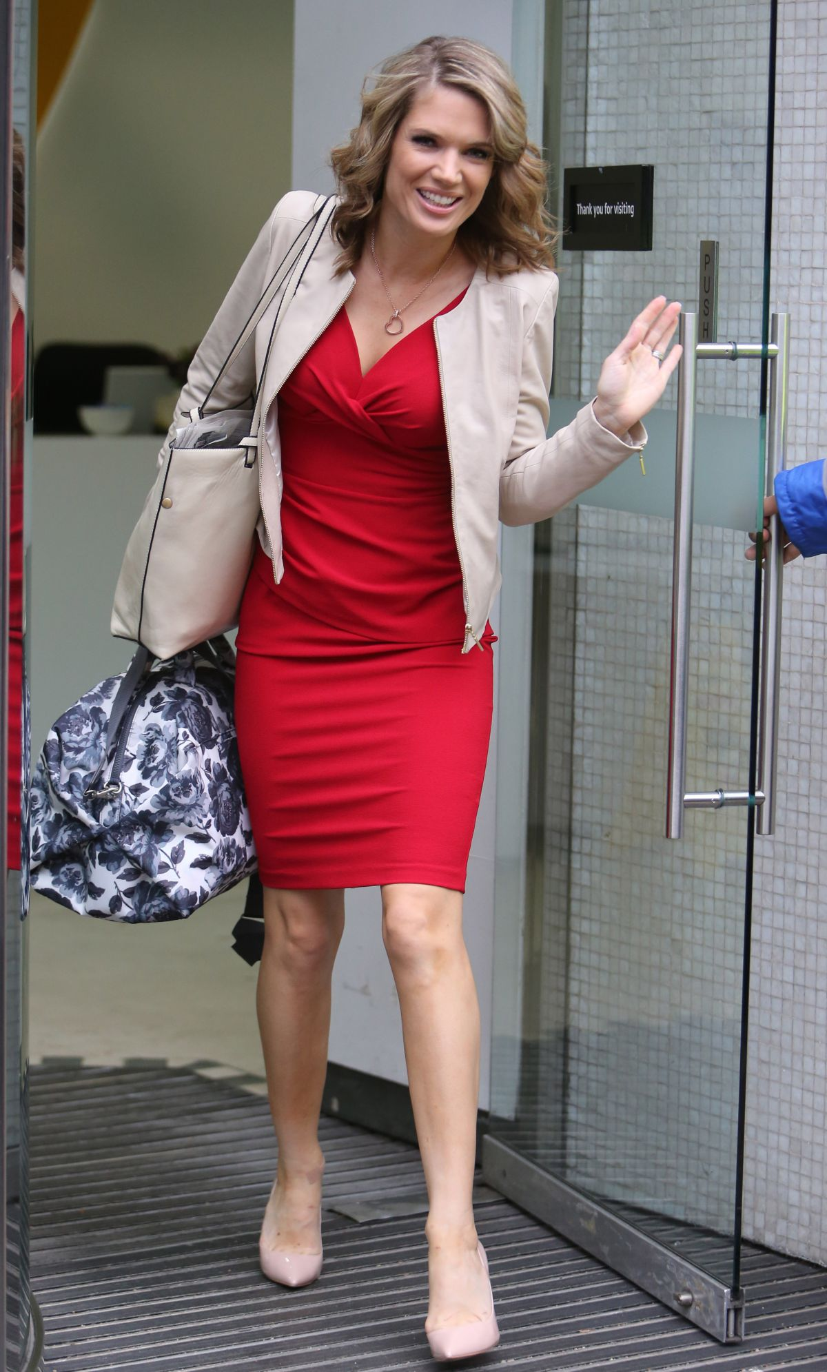 Charlotte Hawkins Outside Itv Studios In London United