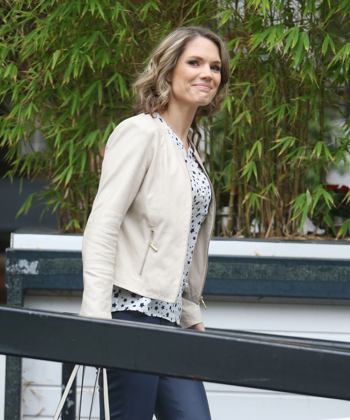 Charlotte Hawkins Seen leaving the ITV studio in London