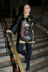 Chiara Ferragni At Vogue x Irving Penn party, Le Petit Palais, Spring Summer 2018, Paris Fashion Week, France
