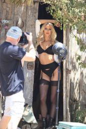 Daisy Lea On the set for 138 Water Photoshoot in Malibu