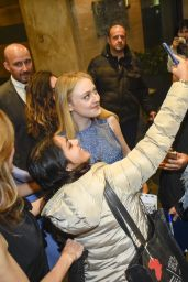 Dakota Fanning Leaves her hotel in Rome