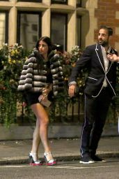 Daniella Semaan Wearing extreme high heeled shoes and showing off her sexy legs in London
