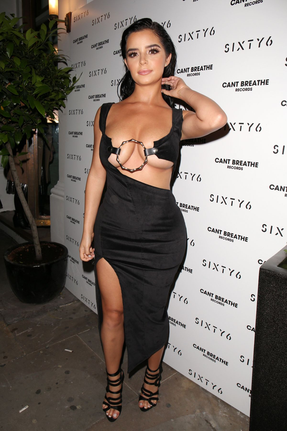 Demi Rose At Revealing Dress at SIXTY6 Magazing launch
