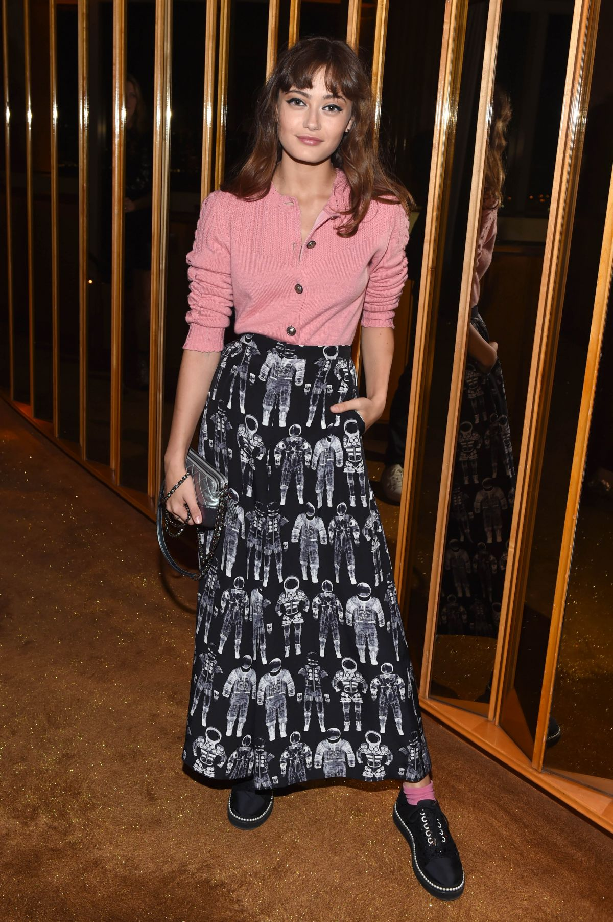Ella Purnell At V Magazine Dinner in NY