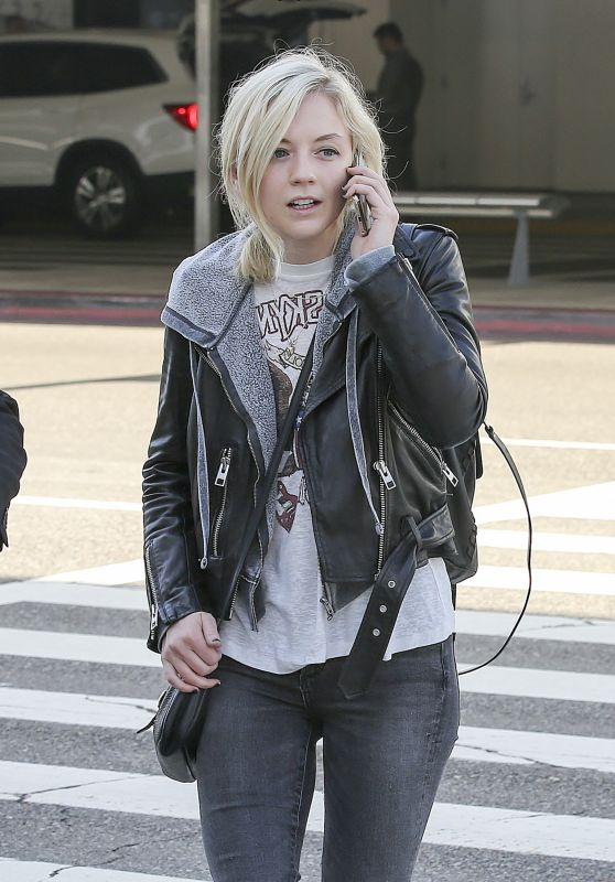 Emily Kinney Spotted at LAX Airport in LA