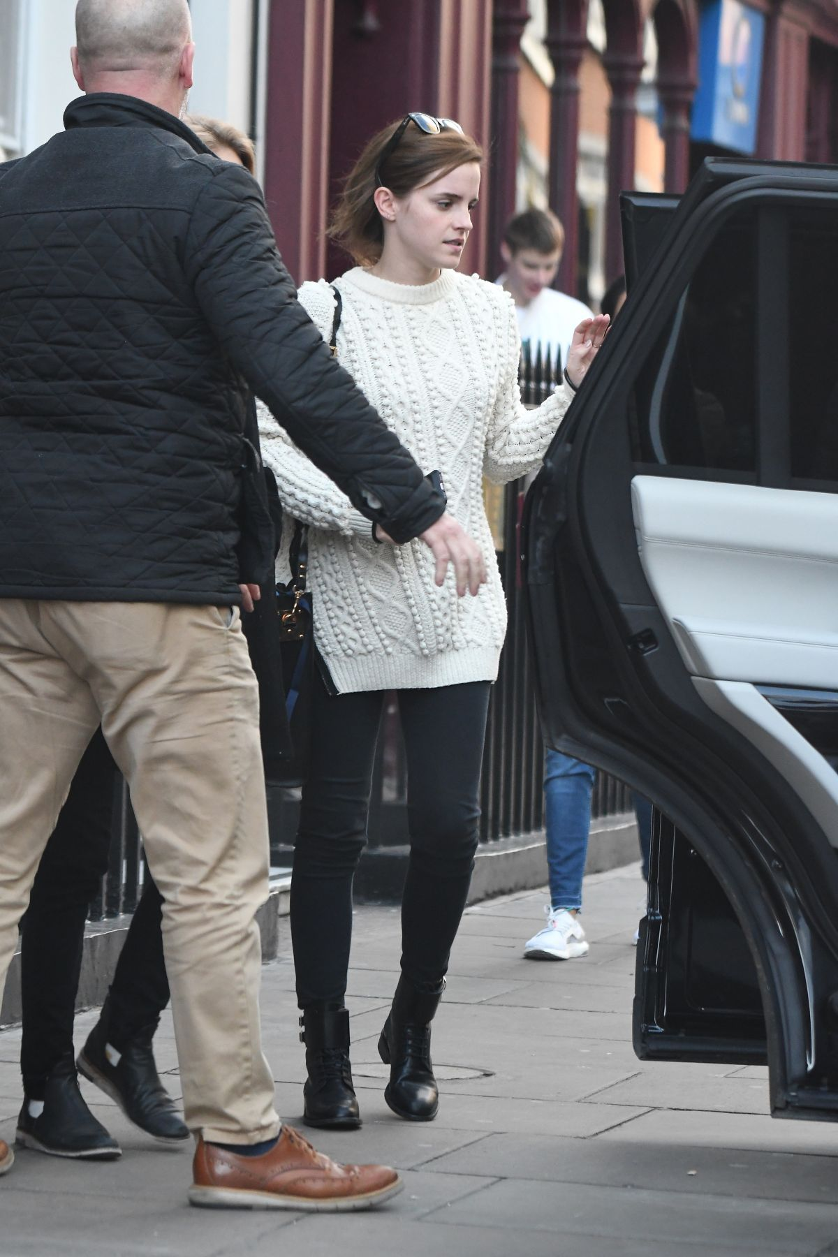 Emma Watson Spotted after having lunch with a friend in Soho in London, UK