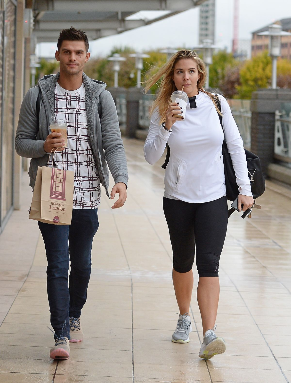 Gemma Atkinson Seen arriving for dance rehearsals at a studio in Manchester