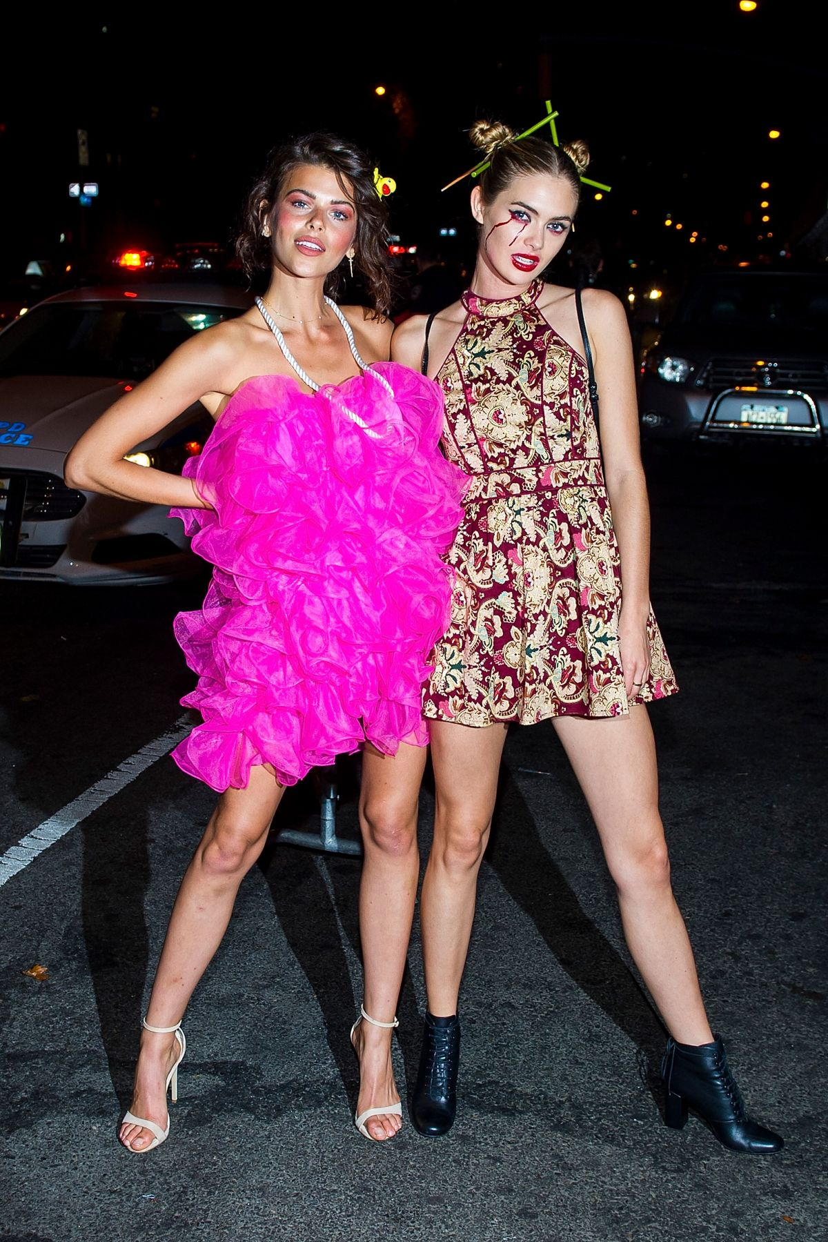 Georgia Fowler and Megan Williams are seen In Chelsea, New York