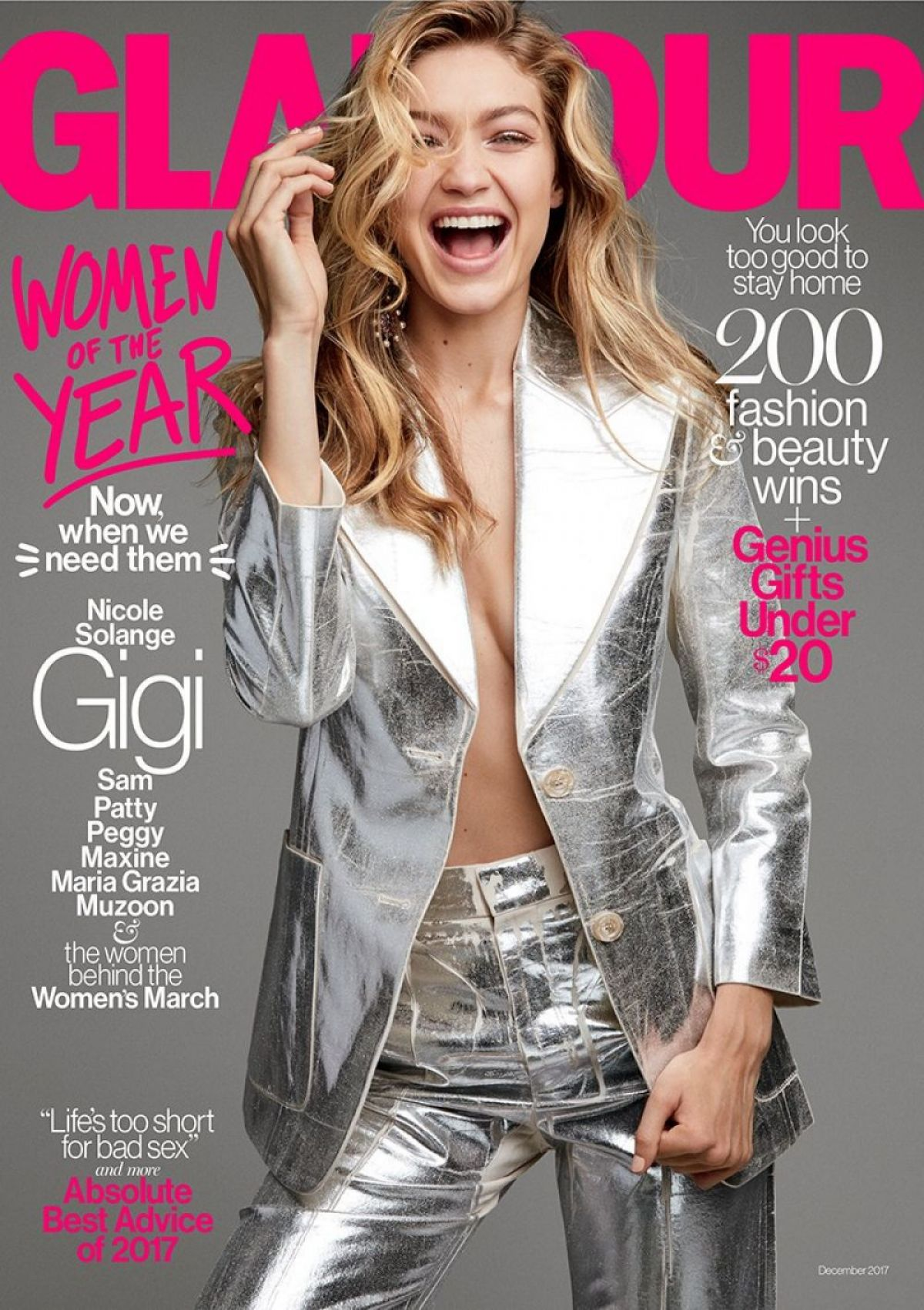 Gigi Hadid - Glamour Magazine, Women of the Year Issue, December 2017