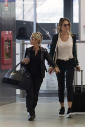 Ilary Blasi Is spotted at Forlanini Airport in Milan, Italy
