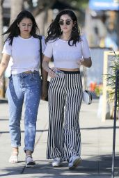 Isabelle Fuhrman Grabs a drink with a friend in LA