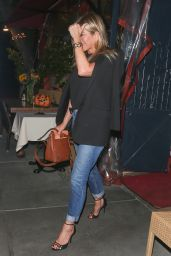 Jennifer Aniston joins Sandra Bullock and Bryan Randall for dinner at Il Piccolino in West Hollywood