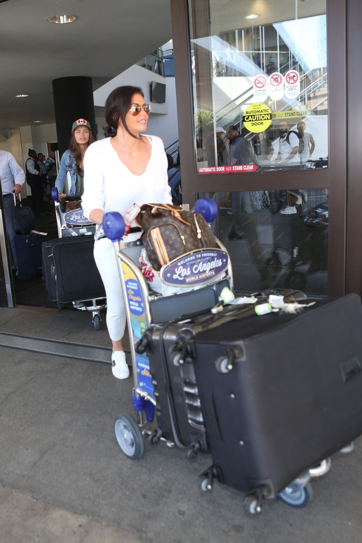 Jessica and Natalya Wright Seen at the LAX airport in Los Angeles