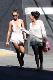 Jessica Wright and her sister Natalya Wright out for a walk in West Hollywood