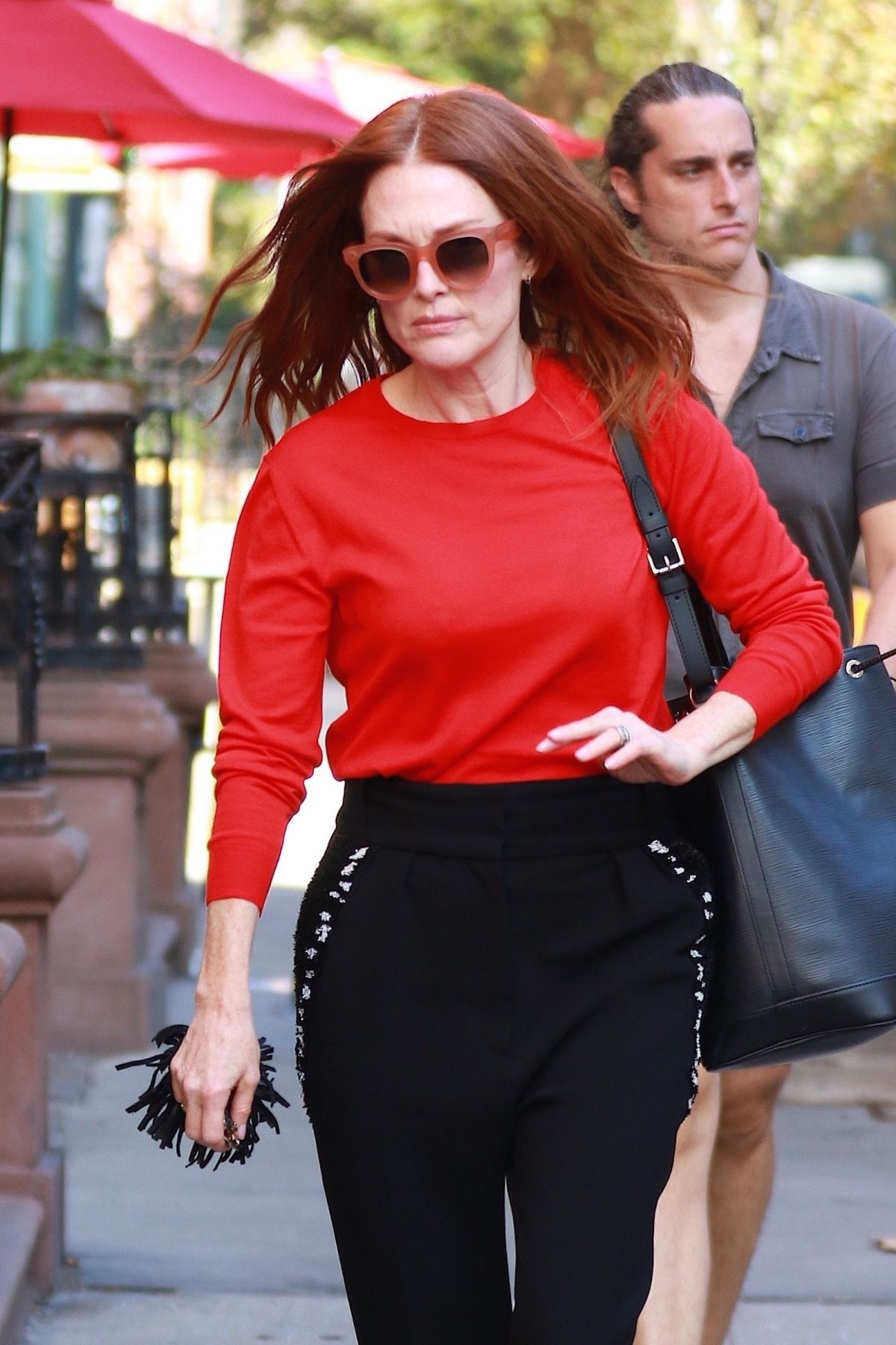 Julianne Moore Spotted Out Running Errands In New York