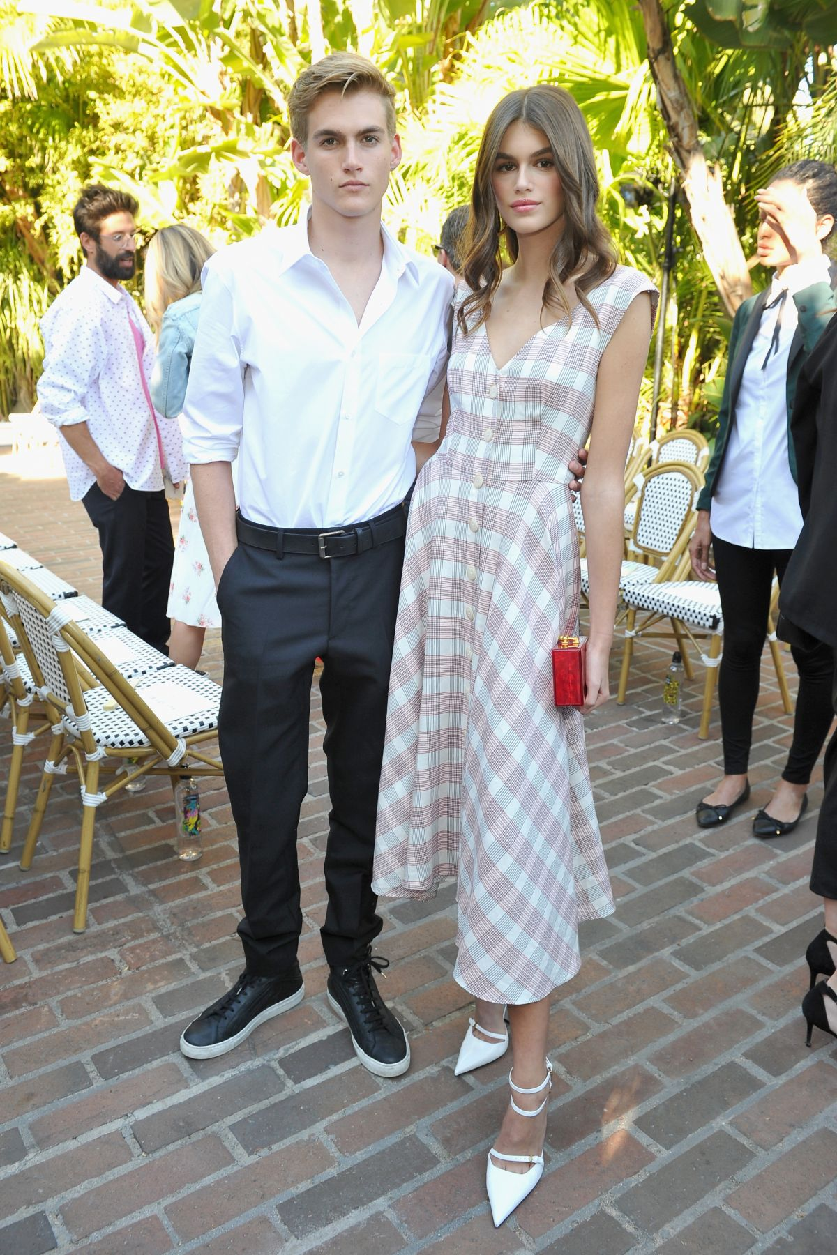 Kaia Gerber Attends CFDA/Vogue Fashion Fund Show and Tea at Chateau Marmont in LA