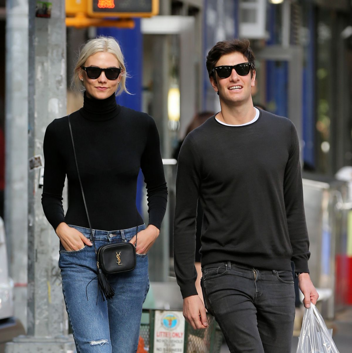 Karlie Kloss Walks home with Joshua Kushner in West Village in NYC