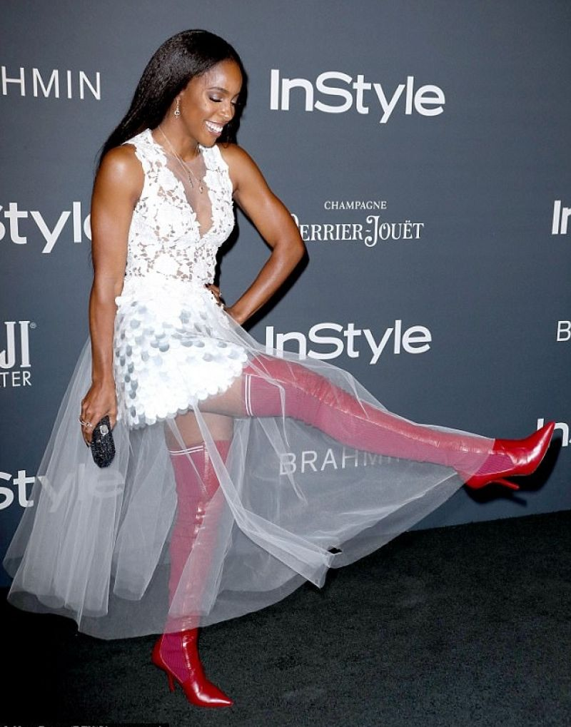 Kelly Rowland Arriving at the InStyle Awards in LA