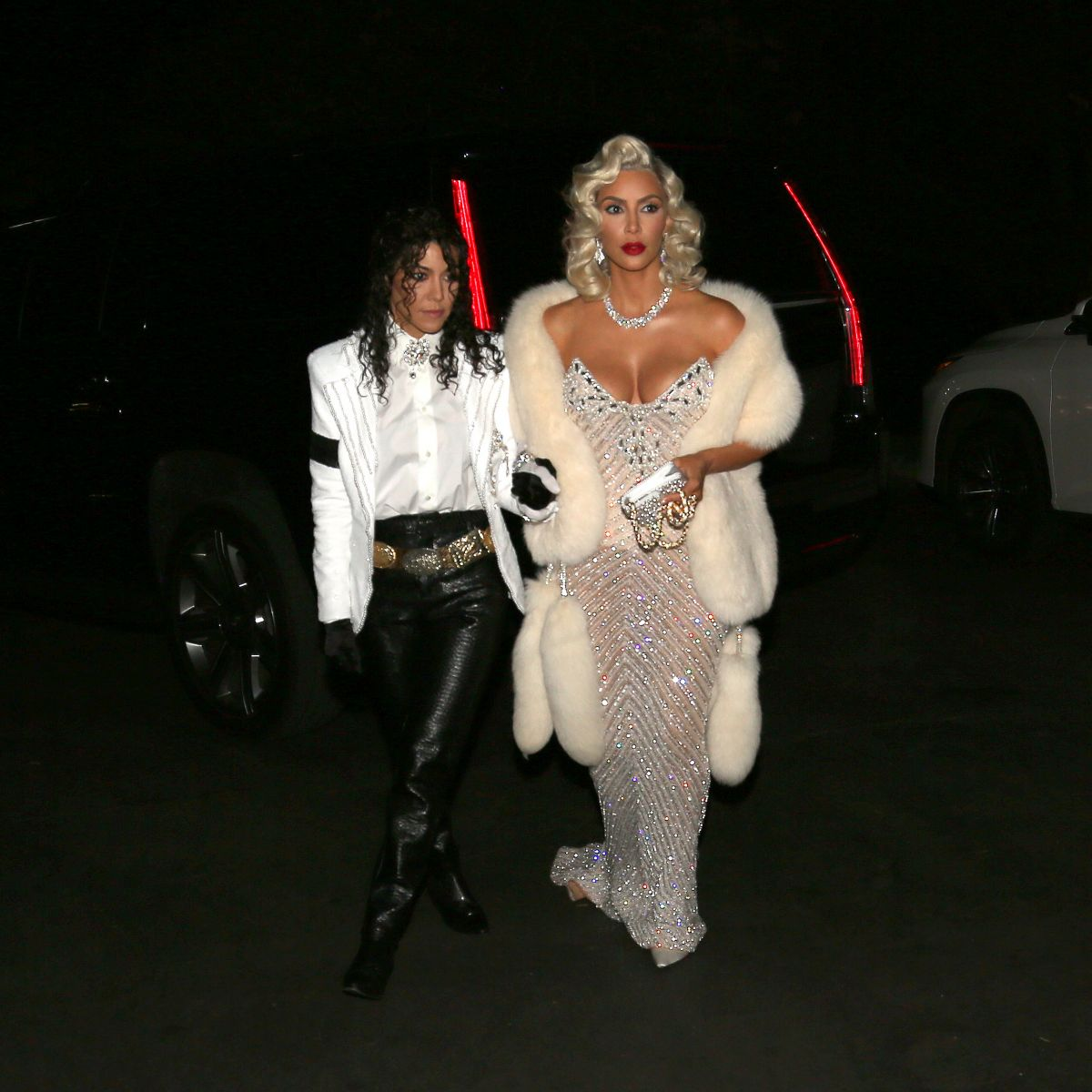 Kim Kardashian Arriving at a Halloween party in Bel-Air