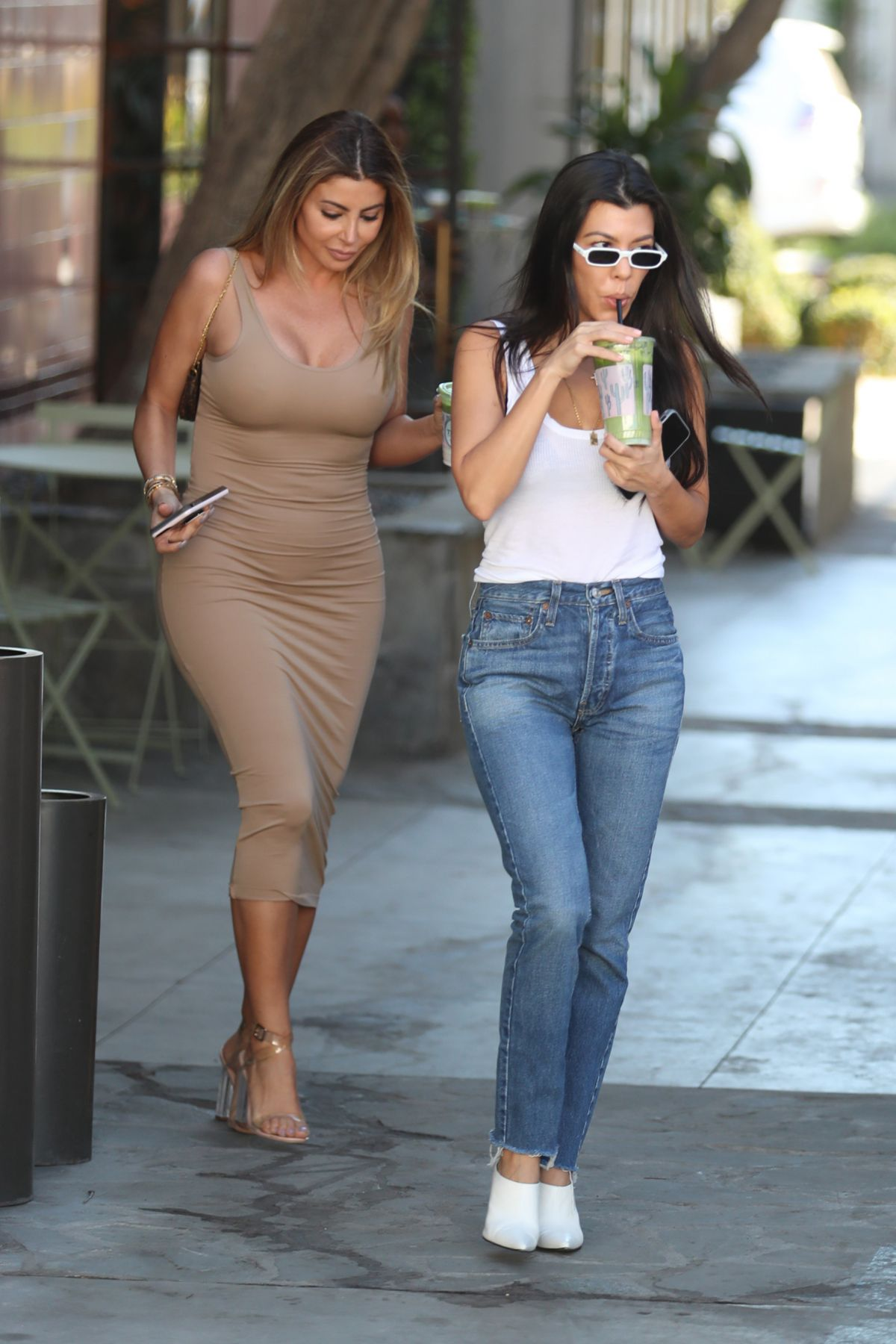 Kourtney Kardashian and Larsa Pippen Seen in West Hollywood
