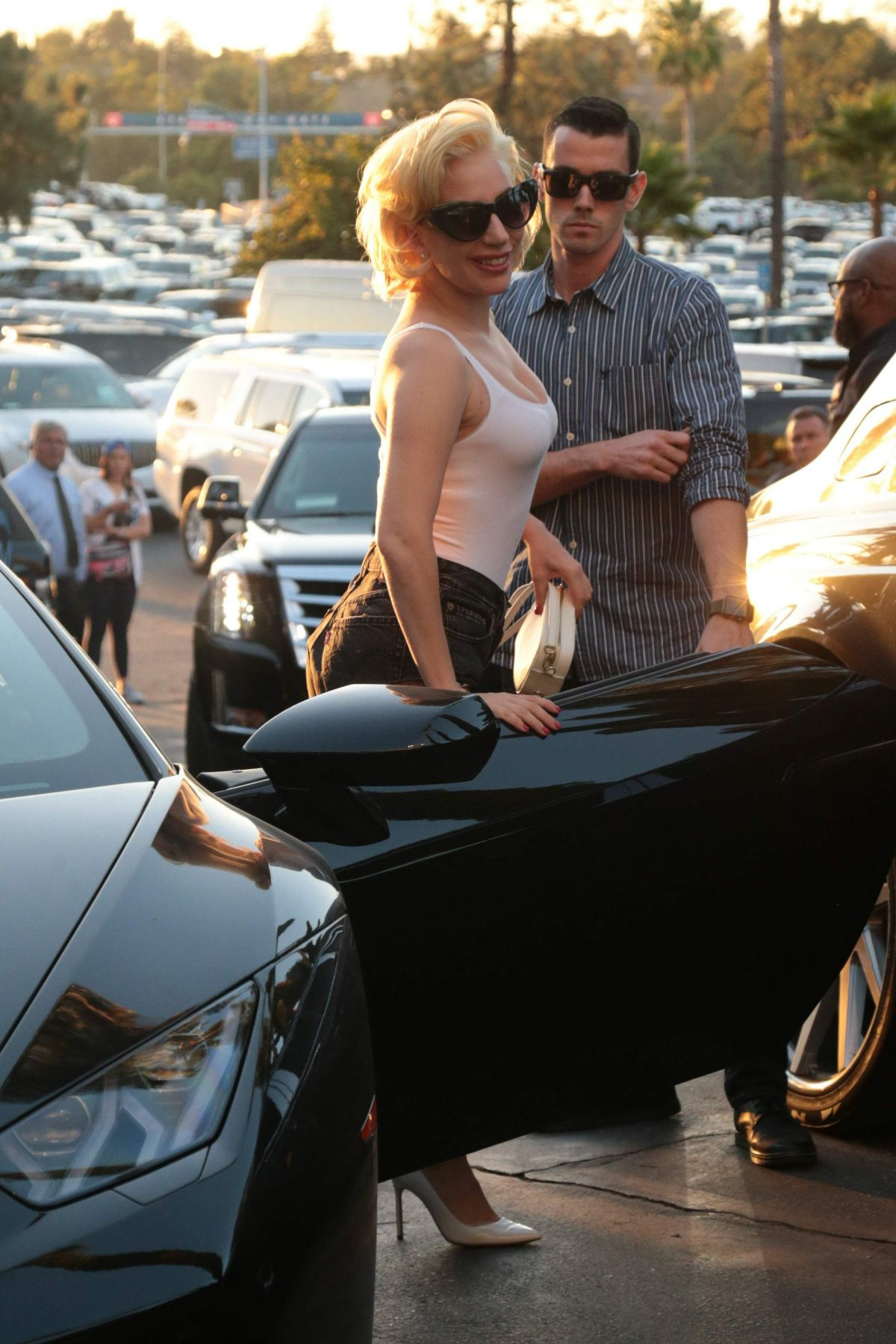 Lady Gaga Arriving to The World Series at Dodger Stadium in LA