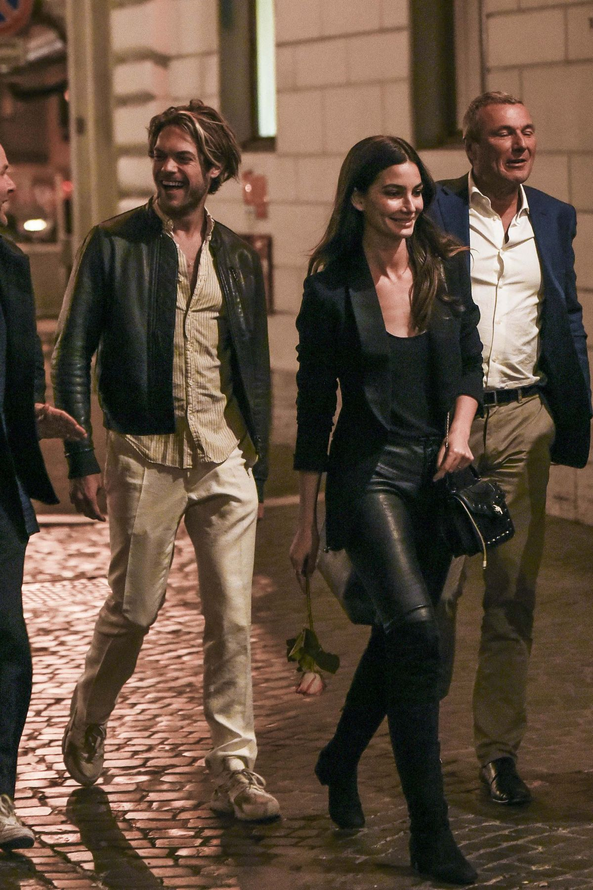 Lily Aldridge Out and about for the evening in Rome