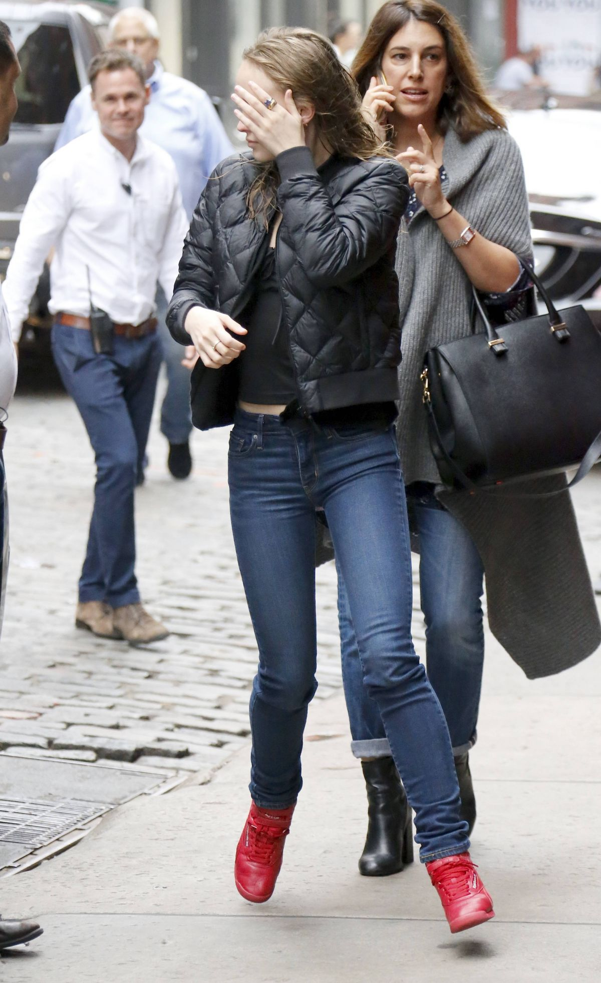 Lily-Rose Depp Leaves her hotel in NYC